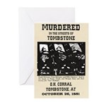Tombstone Murder Greeting Cards (Pk of 10)