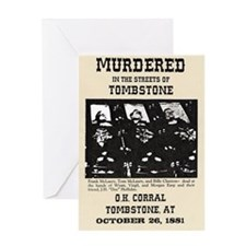 Tombstone Murder Greeting Card