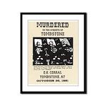 Tombstone Murder Framed Panel Print