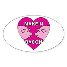 Make'n Bacon Oval Decal