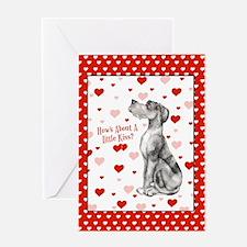 Great Dane Merle UC Kiss Greeting Card