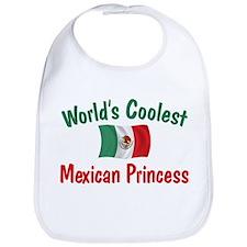 Coolest Mexican Princess Bib