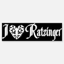 I *heart* Ratzinger! Bumper Bumper Bumper Sticker