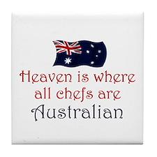 Australian Chefs Tile Coaster