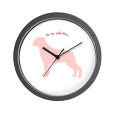 Rottie... Be My Valentine Wall Clock