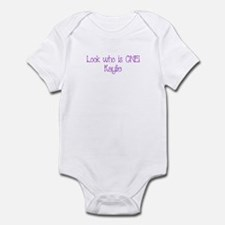 Look who is ONE! Kaylie Infant Bodysuit