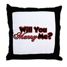 Cute Will you marry me Throw Pillow
