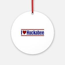 I Love Huckabee Ornament (Round)