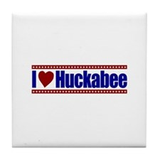 I Love Huckabee Tile Coaster