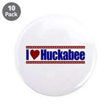 "I Love Huckabee 3.5"" Button (10 pack)"
