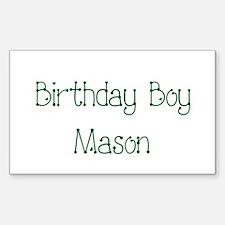 Birthday Boy Mason Rectangle Decal