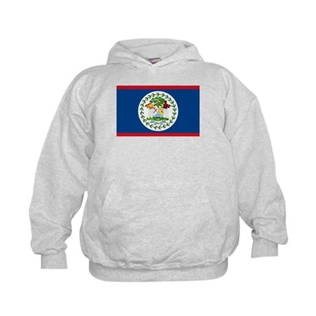 Belize Country Flag Kids Hoodie