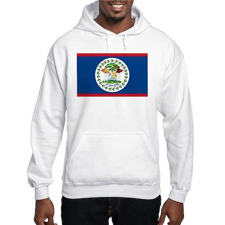 Belize Country Flag Hooded Sweatshirt