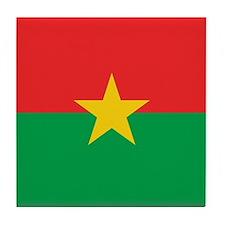 Flag of Burkina Faso Tile Coaster