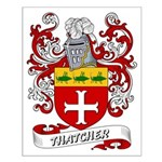 Thatcher Coat of Arms Small Poster