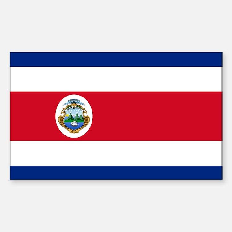 Flag of Costa Rica Sticker (Rectangle)