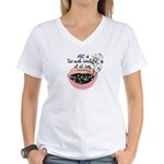 Art a Beautiful Lie II Women's V-Neck T-Shirt