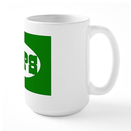 TIPS Country Western Font Tip Jar Large Mug