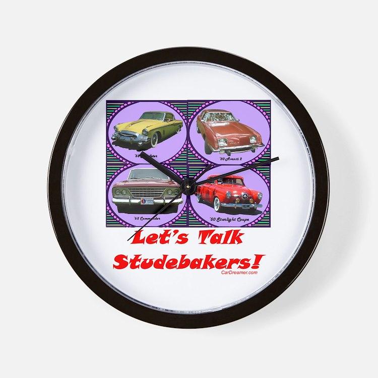 """Let's Talk Studebakers"" Wall Clock"