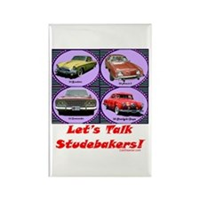 """""""Let's Talk Studebakers"""" Rectangle Magne"""