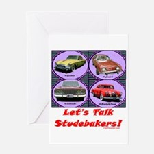 """Let's Talk Studebakers"" Greeting Card"