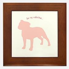 Staffie... Be My Valentine Framed Tile