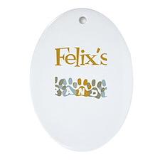 Felix's Grandpa Oval Ornament