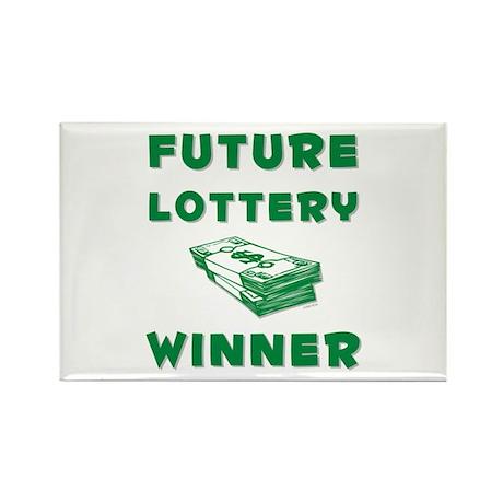 Future Lottery Winner Rectangle Magnet (10 pack)