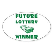 Future Lottery Winner Oval Decal