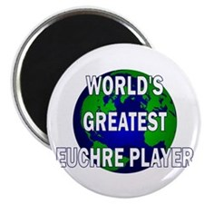 World's Greatest Euchre Playe Magnet