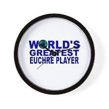 World's Greatest Euchre Playe Wall Clock