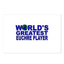 World's Greatest Euchre Playe Postcards (Package o