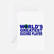 World's Greatest Euchre Playe Greeting Cards (Pk o