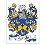 Tompkins Coat of Arms Small Poster