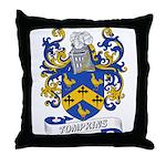 Tompkins Coat of Arms Throw Pillow