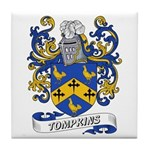 Tompkins Coat of Arms Tile Coaster