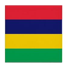 Flag of Mauritius Tile Coaster