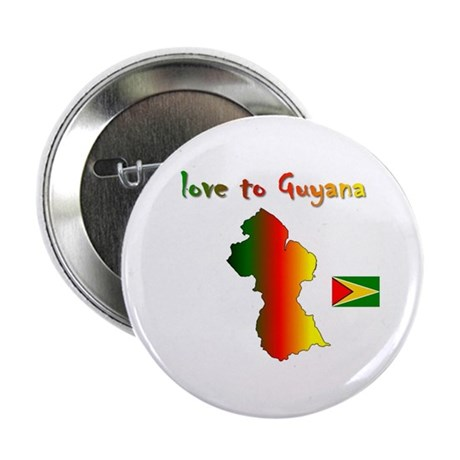 "Love to Guyana 2.25"" Button (100 pack)"