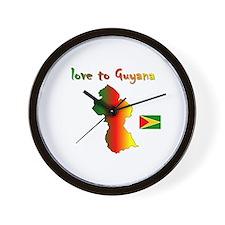 Love to Guyana Wall Clock