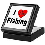 I Love Fishing for Fishing Fans Keepsake Box