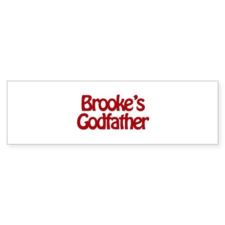 Brooke's Godfather Bumper Sticker