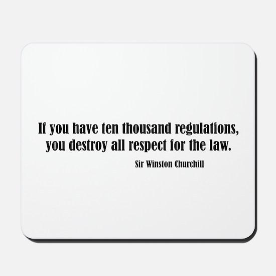 Regulations Mousepad