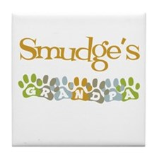 Smudge's Grandpa Tile Coaster