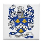 Townsend Coat of Arms Tile Coaster