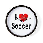 I Love Soccer Wall Clock