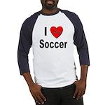 I Love Soccer (Front) Baseball Jersey