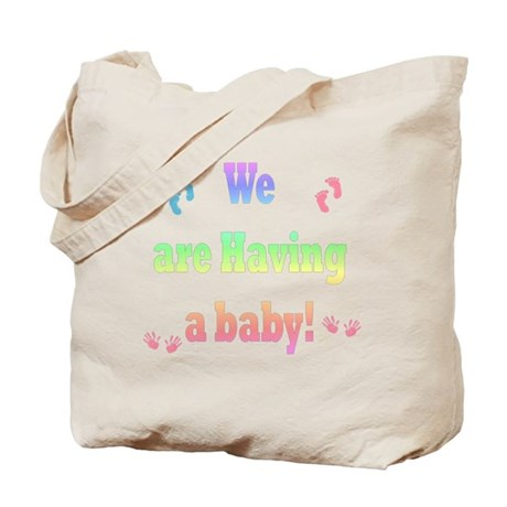 we are having a baby Tote Bag