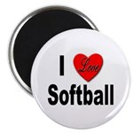 I Love Softball Magnet