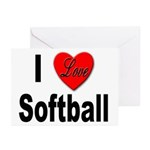 I Love Softball Greeting Cards (Pk of 10)