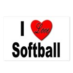 I Love Softball Postcards (Package of 8)
